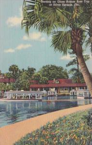 Florida Silver Springs Starting On Glass Bottom Boat Trip 1956 Curteich