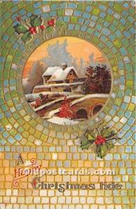Christmas Holiday Postcard Writing on Back