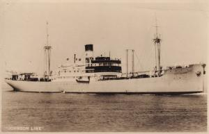 MS Annie Johnson Line Ship Real Photo Old Postcard