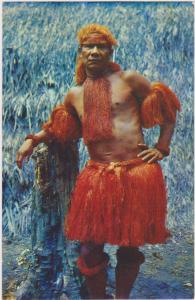 Amazonas - Colombia , Chief of Yaguan Tribe , 40-60s