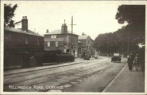 Uxbridge UK Hillingdon Road c1920s Postcard
