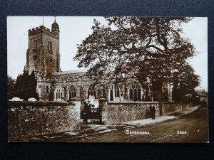 Kent SEVENOAKS St Nicholas Church c1912 RP Postcard