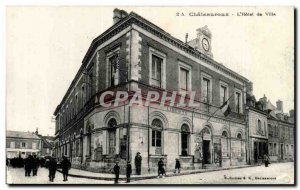 Chateauroux Old Postcard L & # City 39hotel