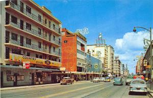 Av. Juarez view from González Ortega St. Mexico Store Fronts Coca Cola Postcard
