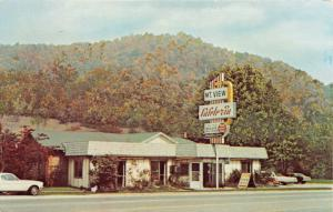 MAGGIE VALLEY NORTH CAROLINA MOUNTAIN VIEW CAFETERIA~COUNTRY COOKING POSTCARD