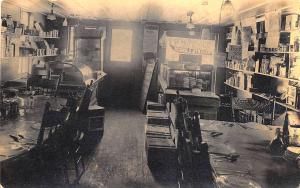 Farmington NH Simpson's Bakery & Lunch Interior Real Photo RPPC Postcard
