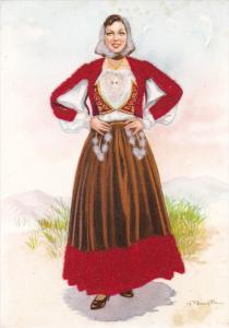 AS; Costume Sardi, Nuoro, Velvet detail, Sardinia, Italy, 50-70s