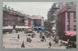 Scollay Square, Boston MA Early Postcard - Street Scene, Howe's Music (#7950)