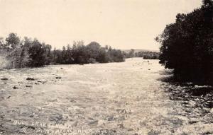 Lander Wyoming Bull Lake Creek Real Photo Antique Postcard K77847