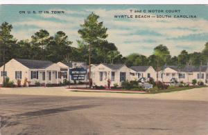 MYRTLE BEACH, South Carolina, 1930s-1940s : T and C Motor Court