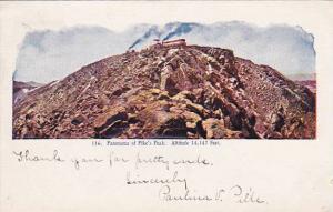 Train, Panorama Of Pike's Peak, Colorado, PU-1906