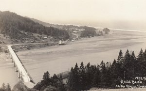 RP: GOLD BEACH , Orergon , 1920-30s ; Rouge River Bridge , Patterson 1705 PAT