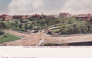 MINNEAPOLIS, Minnesota, 1901-1907; General View, University Of Minnesota