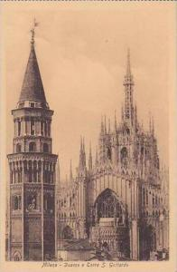 Italy Milano Duomo e Torre S Gottardo