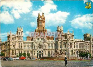 Postcard Modern Madrid Palace Commnications