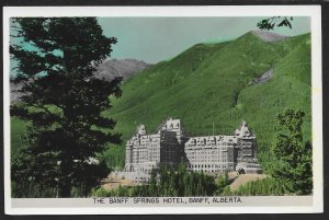 Banff Springs Hotel Banff Alberta CANADA Real Photo Unused c1920s