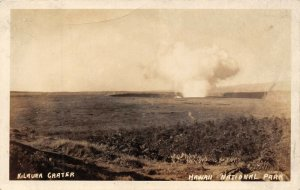 LP17  Kilauea Hawaii Postcard RPPC Volcano Crater Eruption National Park