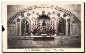 Old Postcard ND Lights Black Madonna