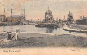 GOOLE YORKSHIRE UK OUSE DOCK POSTCARD 1907