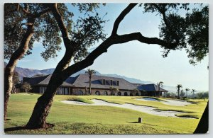 Santa Barbara California~Birnam Wood Golf Clubhouse~Sand Traps & Palm Trees 1956