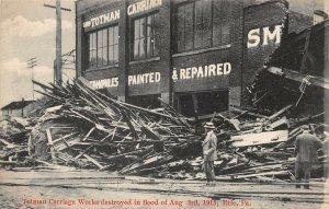 LPS22 Erie Pennsylvania 1915 Flood Totman Carriage Works Debis Postcard
