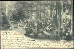 germany, KIPSDORF, Gruss aus, Waldgottesdienst (1901)
