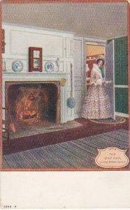 Beautiful Lady The 1847 Girl Living Room Scene