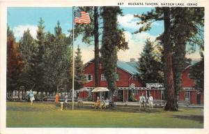 F7/ Hayden Lake Idaho Postcard c1920 Bozanta Tavern Crowd
