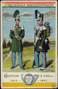 luxemburg Letzeburger Bundeskontingent Chasseurs Rifles