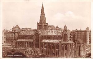 Scotland, UK Old Vintage Antique Post Card Glasgow Cathedral Unused