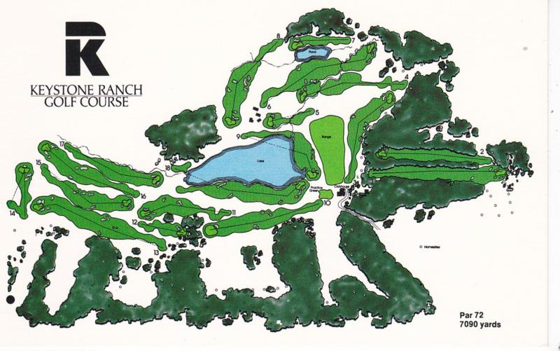 Keystone Ranch & Golf Course , KEYSTONE , Colorado , 50-60s ; Map
