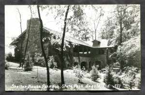 dc1815 - ANGOLA Indiana 1950s Shelter House Real Photo Postcard