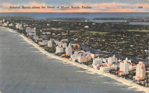 Florida, Palatial Hotels along the Shore of Miami Beach, coast, panorama