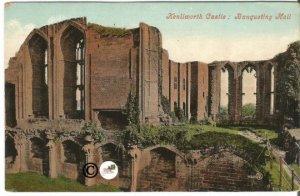Vintage Undivided Back Postcard, Banqueting Hall, of Kenilworth Castle
