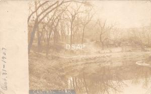C46/ Marion Kansas Ks Real Photo RPPC Postcard 1907 Central Park Pond