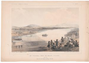Rio Colorado Mojave Villages looking WNW USPRR Survey 35th Parallel 1855 Litho