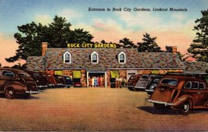 Tennessee Chattanooga Lookout Mountain Entrance To Rock City Gardens Curteich