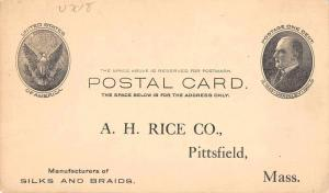 Pittsfield Massachusetts Rice Co Government Postal Antique Postcard J65103