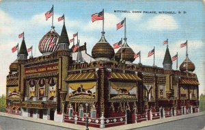 Mitchell Corn Palace, Mitchell, S.D., Early Linen Postcard, Unused