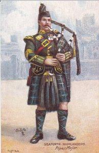 TUCK #9356; Seaforth Highlanders, Pipe Major, 00-10s
