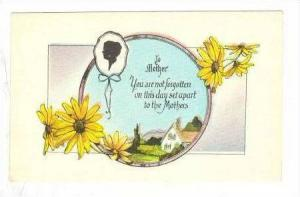 Mothers Day Card, Yellow Daisies, Country Home, 10-20s