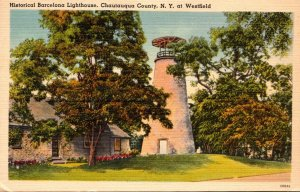 New York Chautauqua County Westfield Historical Barcelona Lighthouse 1946