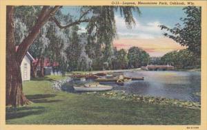 Wisconsin Oshkosh Lagoon In Menominee Park Curteich