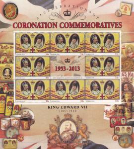 King Edward VII Bermuda Royal Coronation Rare Mint Stamp Block Sheet