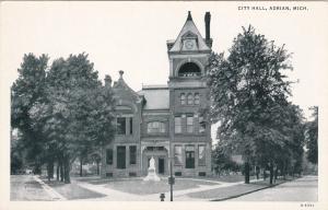 ADRIAN, Michigan, 1900-1910's; City Hall