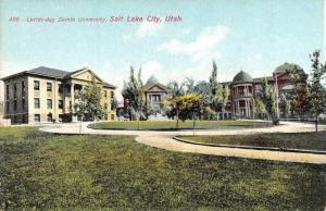 SALT LAKE CITY, UT Utah   LATTER DAY SAINTS UNIVERSITY    c1910's Postcard