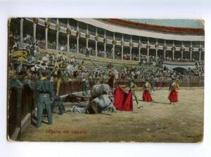 139693 SPAIN Corrida Bullfighting TORERO Horse Quite caballo