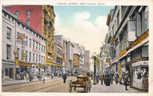 Chapel Street, New Haven, Connecticut, Early Postcard, Unused