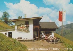 Wolfratshauser Hutte Austrian Lermoos Tirol Postcard