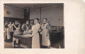 D94/ Occupational Real Photo RPPC Postcard c1910 Nurses? Cooking Class 5